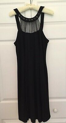 127e5d35961bb BLACK COCKTAIL DRESS Sz 12 Jessica Howard Evenings Dress Sleeveless ...
