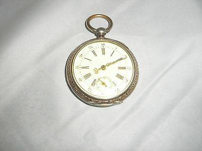 Cylindre Pocket Watch, Vintage, Very Rare In U.s., Swiss Movement