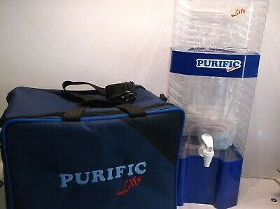 Purific Premium Blue 2 Gallon Water Purifier With Canvas Carrier-No Electricity
