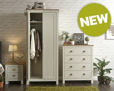Lancaster Cream/Oak 3 Piece Bedroom Set, Assembly Option, LOCAL DELIVERY