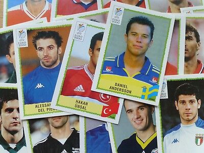 Panini Euro 2000 Stickers (Badges/Teams/Players)