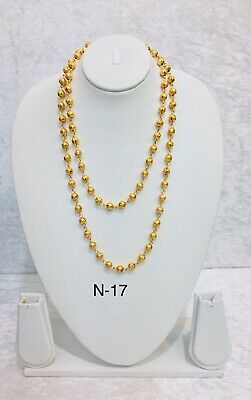 Gold Plated Long Chain Pakistani Traditional Party Wear Necklace Women new mala