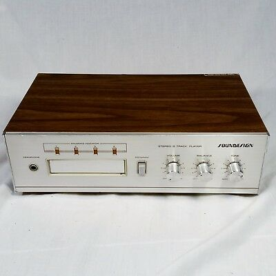 Vtg Soundesign 5018 8 Track Player Stereo Standalone Internal Amplifier WORKS
