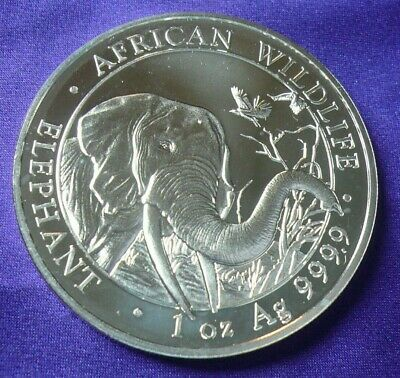 2018 Somali Republic African Wildlife Elephant 1 oz .999 Silver Coin Round (131)