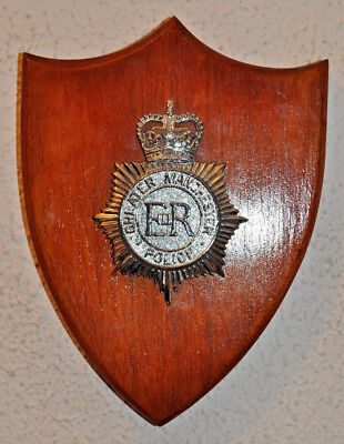 Greater Manchester Police mess wall plaque shield crest Constabulary
