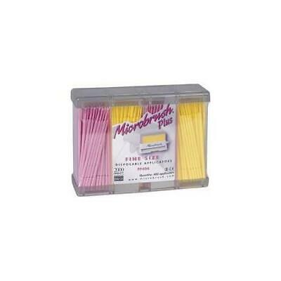 Microbrush PF400PI Plus Dispenser Series Micro Applicators Fine Pink 400/Pk