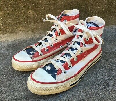 lace up in sneakers special for shoe VINTAGE CONVERSE ALL Star Chuck Taylor Flag USA Made ...