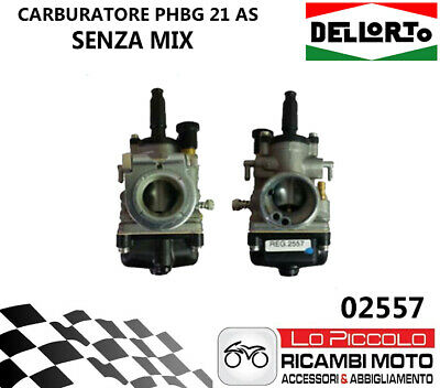 Aprilia Rs 50 2T Lc (Minarelli Am 3-6) 02557 Carburatore Dell'orto Phbg 21 As