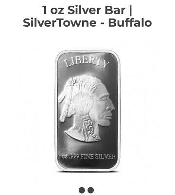 American Buffalo Bar by SilverTowne 1 oz .999 Silver Bar (1piece)