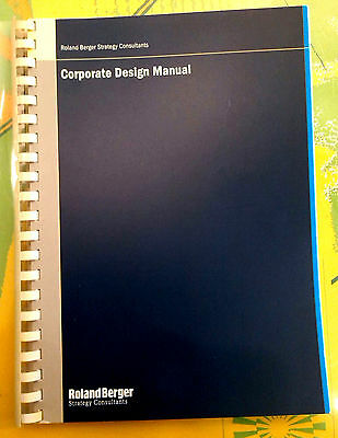 CI ROLAND BERGER Corporate Design Manual 2001 Grafik Graphics