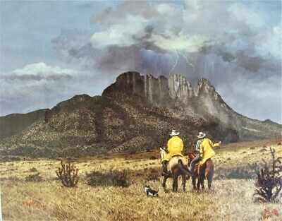 B. Herd 1984 Western Print Storm Over Sawtooth LE 137/500 Signed.