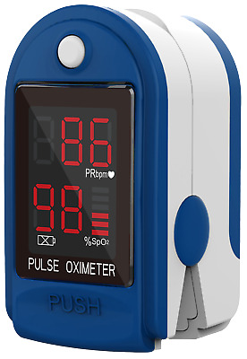 CMS 50-DL Fintertip Pulse Oximeter with Neck/Wrist cord