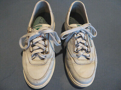 8d0124a4b4a MEPHISTO Runoff Womens Sz 7.5 Air-Jet Sneakers Walking Shoes Off White  Leather