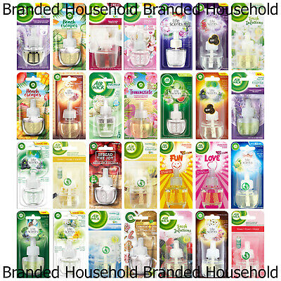 6 X Air Wick Airwick Plug In Refills Air Freshener Choose Scent Home Office