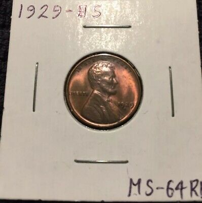 1929 S Lincoln Wheat Cent Uncirculated Red Brown Excellent Coin!!