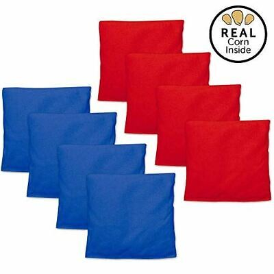 Corn Filled Cornhole Bags - Set of 8 Bean Bags for Corn Hole Game - Regulation S