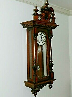 Antique German Gustav Becker Vienna Wall Clock In Good Working Order