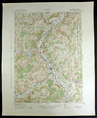 1941 Angelica New York Houghton Vintage Military Army Corp of Engineers Topo Map