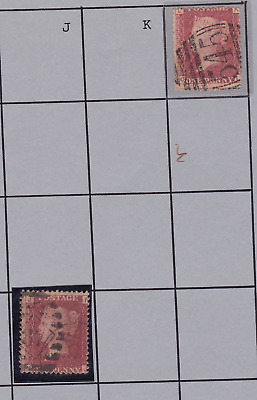 PLATE 155-8 SG43 1d Penny Red postage mark/cancellations CHEAP SINGLES MULTILIST
