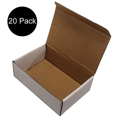 20 White Corrugated 6x4x2 Packing Shipping Mailing Boxes Cardboard Box Cartons