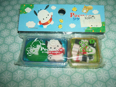 Rare Vintage 1998 Sealed Cased Pochacco erasers rubbers gommes gommine