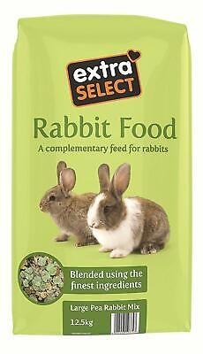 Rabbit Food Extra Select Premium Large Pea Rabbit Feed Vitamins Minerals 12.5 kg