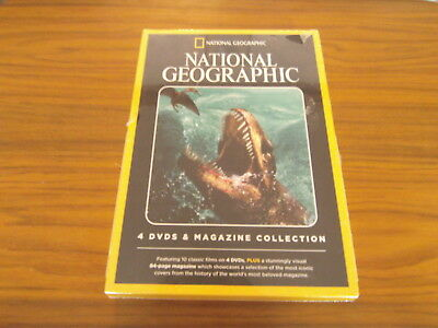 NATIONAL GEOGRAPHIC - 4 DVD's AND MAGAZINE COLLECTION  -  DVD -  **NEW**
