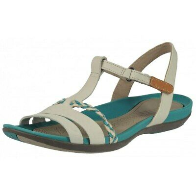 0e794bc9ebe WOMENS CLARKS TEALITE Grace Silver Flat Leather Sandals - D Fit Size ...