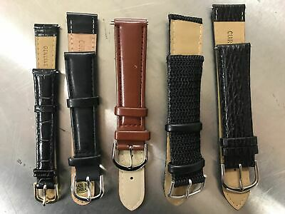 18mm Genuine Leather Watch Band,Strap, Interchangeable,Quick Release Womens Mens