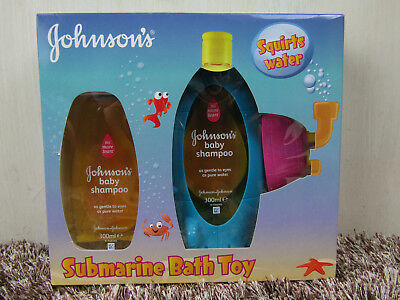 Johnsons Baby Shampoo Submarine Bath Toy Gift Set Christmas 300ml x2