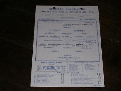 1944/45  CHELSEA v CHARLTON ATHLETIC  FOOTBALL LEAGUE SOUTH  06/01/1945