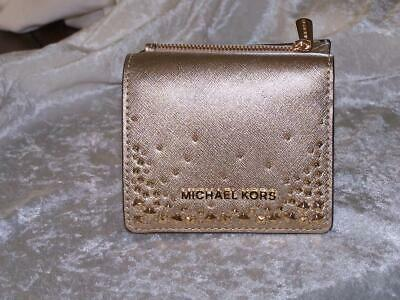 ef19989aad06 Nwt Michael Kors Giftables Flap Card Holder Case Small Wallet Gold $148