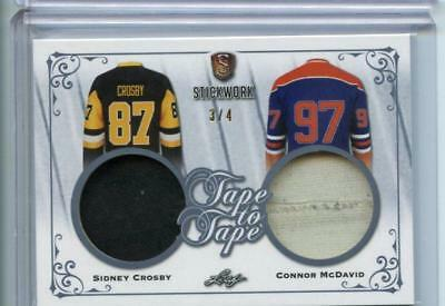 2017-18 LEAF STICKWORK HOCKEY TAPE TO TAPE 3/4 Sidney Crosby - Connor McDavid