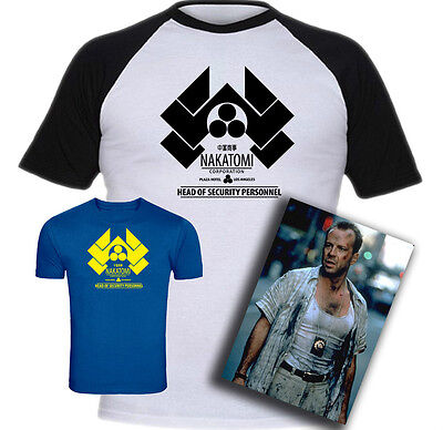 Die Hard Nakatomi Plaza Security Inspired Screen-Printed T-Shirt