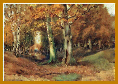 Essex 1909 Rare Print - Epping Forest Loughton - by Louis. Burleigh. Bruhl.