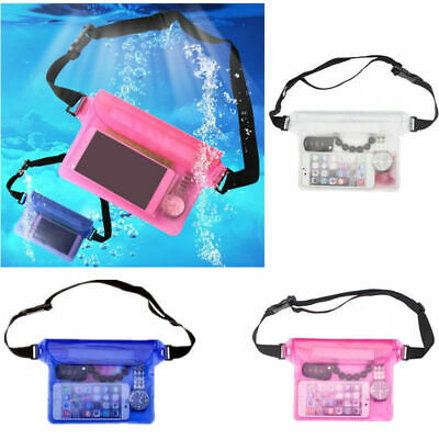 Waterproof Cell Phone Case Underwater Cover Waist Bag Swimming Dry Storage Pouch