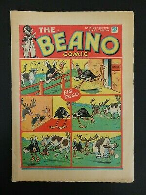 The Beano Comic No. 13 - October 22nd 1938, FINE Copy, Bright, Very Scarce!