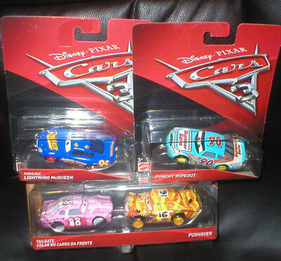 Disney Pixar Cars Lot Of 4 Harder To Find Vehicles, All Unopened.
