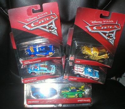 Disney Pixar Cars Lot Of 6 Harder To Find Vehicles, All Unopened