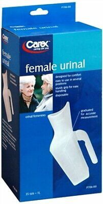 Carex Female Urinal Easy to Use Graduated for Accurate Measurement P706 (24PK)