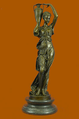 Bronze Sculpture Extra Large Maiden Roman/Greek Style Home Office Decoration NR