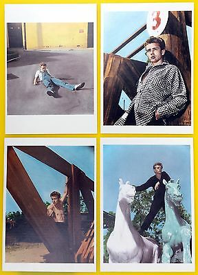 JAMES DEAN - Set of  FOUR color photo postcards NEW, out of print - RARE