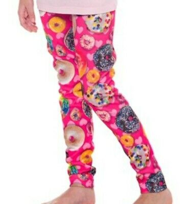 Wasabi & Ginger Girl's Pink Multicolor Donut Leggings Size XL (14-16) New