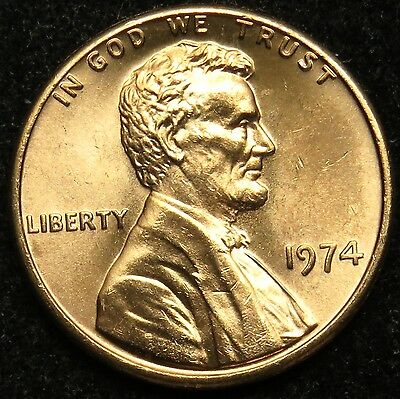 1974 Uncirculated Lincoln Memorial Cent Penny BU (B05)