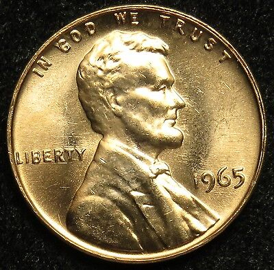 1965 Uncirculated Lincoln Memorial Cent Penny BU (B05)