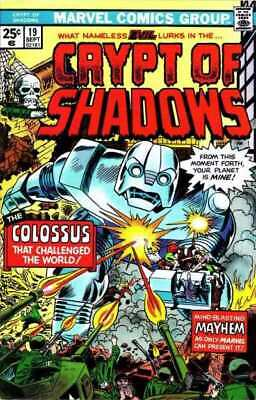 Crypt of Shadows (1973 series) #19 in Fine minus condition. Marvel comics [*k9]