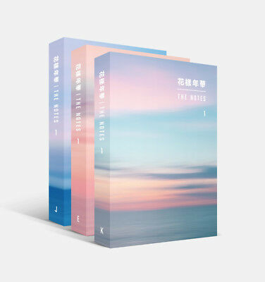 BTS - [花樣年華 The NOTES 1] 3 Books + 4 Double Side Photocards [E+J+K 3 Book SET]