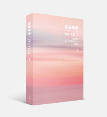 BTS - [花樣年華 The NOTES 1] 230p Book + 4 BTS Photocard [ENGLISH ver.] Tracking no.