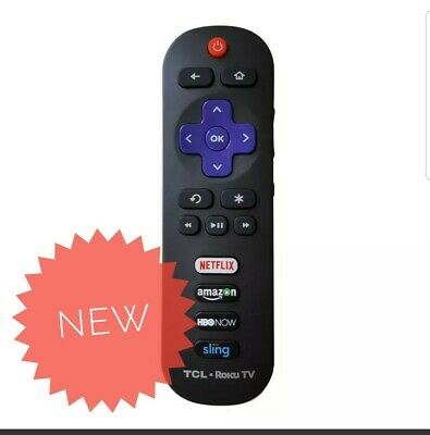 RC280 LED HDTV Remote Control for TCL ROKU TV