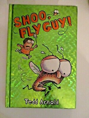 Shoo, Fly Guy! Tedd Arnold AUTHOR SIGNED AUTHOGRAPH free ship humor kids